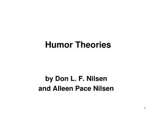Humor Theories