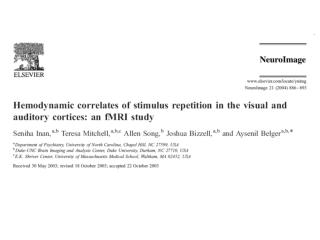 HDR varies across  regions (plumbing or neuronal?)