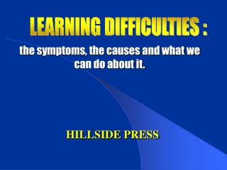 the symptoms, the causes and what we can do about it.