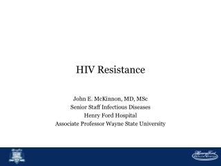 HIV Resistance