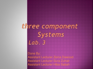 three component  Systems Lab. 3