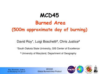 MCD45  Burned Area (500m approximate day of burning)