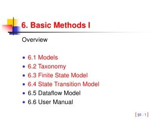 6. Basic Methods I
