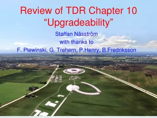 "Review of TDR Chapter 10 "" Upgradeability """