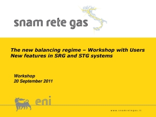 The new balancing regime – Workshop with Users New features in SRG and STG systems