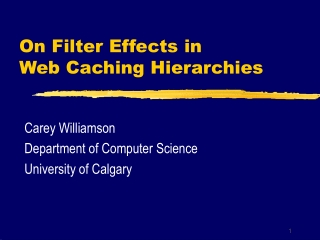 On Filter Effects in Web Caching Hierarchies