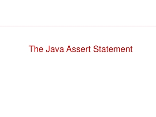 The Java Assert Statement