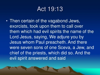 Act 19:13