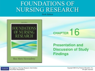 Presentation and Discussion of Study Findings