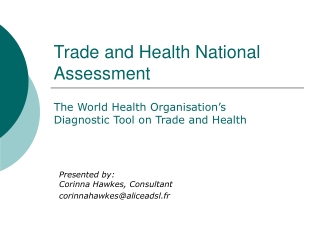 Trade and Health National Assessment