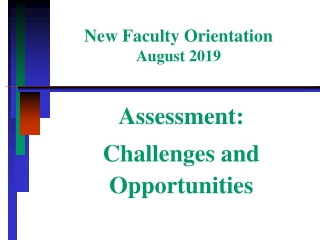 New Faculty Orientation August 2019