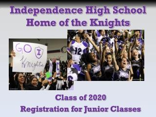 Class of 20 20 Registration for  Junior  Classes