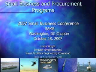 Small Business and Procurement  Programs