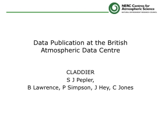 Data Publication at the British Atmospheric Data Centre