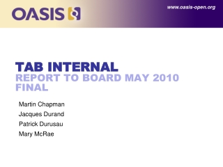 TAB Internal Report to board May 2010 final