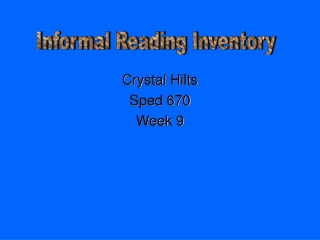 Crystal Hilts Sped 670 Week 9