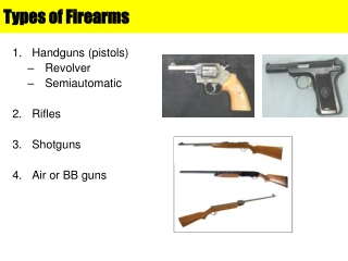 Types of Firearms