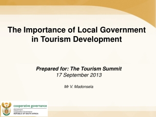The Importance of Local Government in Tourism Development