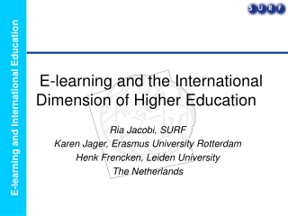 E-learning and the International Dimension of Higher Education