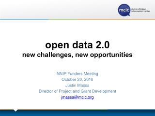open data 2.0 new challenges, new opportunities