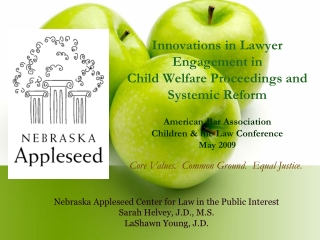 Nebraska Appleseed Center for Law in the Public Interest Sarah Helvey, J.D., M.S.