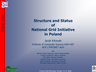Structure and Status  of  National Grid Initiative  in Poland