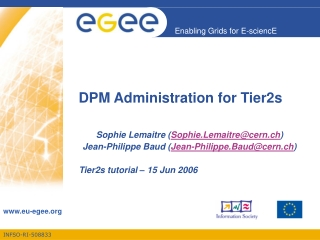 DPM Administration for Tier2s
