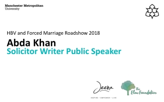 HBV and Forced Marriage Roadshow 2018