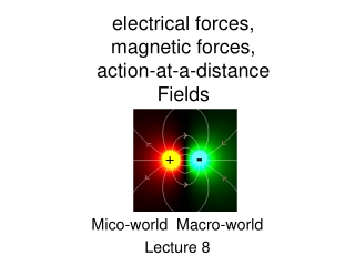 electrical forces, magnetic forces, action-at-a-distance Fields