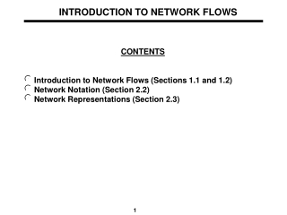 INTRODUCTION TO NETWORK FLOWS