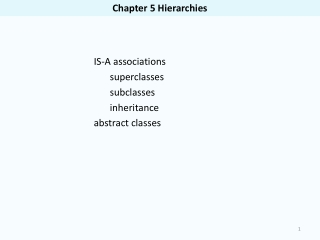 Chapter 5 Hierarchies