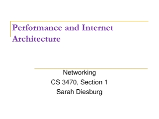 Performance and Internet Architecture