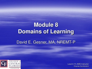 Module 8 Domains of Learning