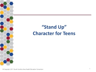 """Stand Up"" Character for Teens"