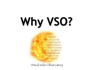 Why VSO?