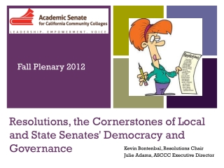 Resolutions, the Cornerstones of Local and State Senates' Democracy and Governance