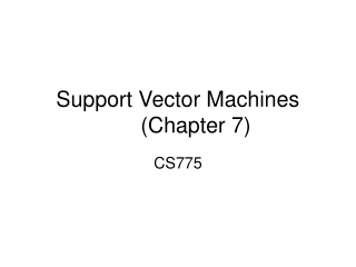 Support Vector Machines(Chapter 7)