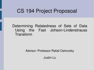 CS 194 Project Proposoal