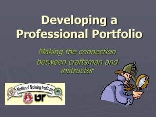 Developing a Professional Portfolio
