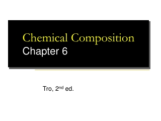 Chemical Composition Chapter 6