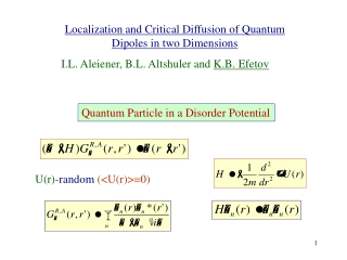 Localization and Critical Diffusion of Quantum Dipoles in two Dimensions