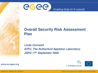 Overall Security Risk Assessment Plan
