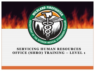 Servicing human resources office (SHRO) training – Level 1