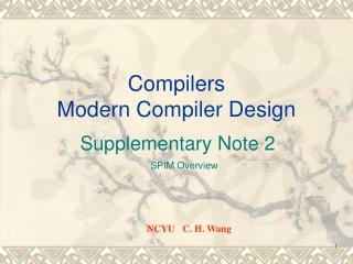 Compilers Modern Compiler Design