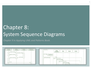 Chapter  8:  System Sequence Diagrams  Chapter 9 in Applying UML and Patterns Book.
