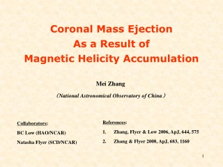 Mei Zhang ( National Astronomical Observatory of China )