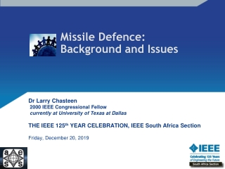 Missile Defence: Background and Issues