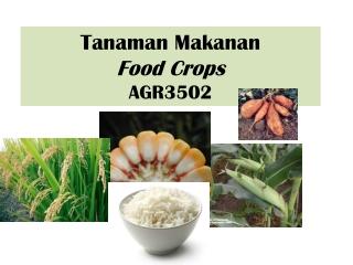 Tanaman Makanan Food Crops AGR3502