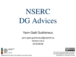NSERC DG Advices
