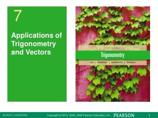 Applications of Trigonometry and Vectors